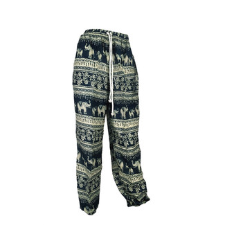 Green Elephant Print Lounge Pants