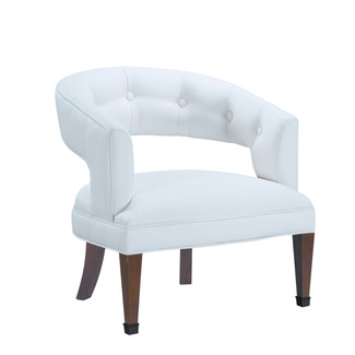 Tufted Faux Leather Chair