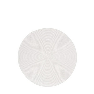 "Cabana 15"" Round Ivory Placemats- Set of 4"