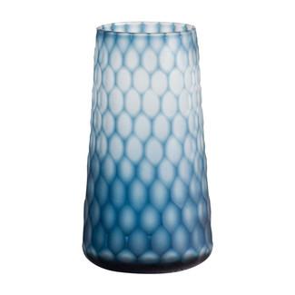 Gordal Blue Frosted Glass Vase