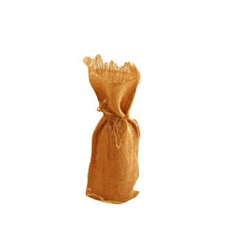 Tangerine Jute Wine Bag