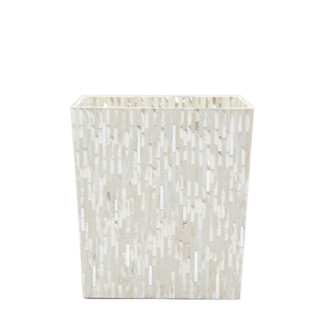 Silver Mix with Shell Wastebasket