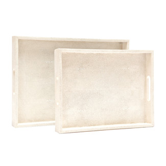 Emery Faux Shagreen Trays- Set of 2