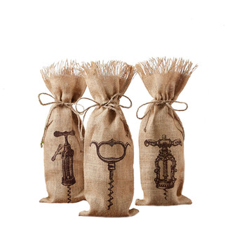 Corkscrew Design Reusable Wine Bags - Set of 3