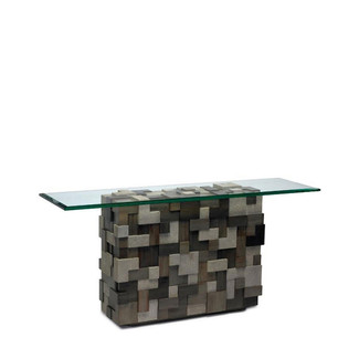 Wood & Faux Shagreen Console