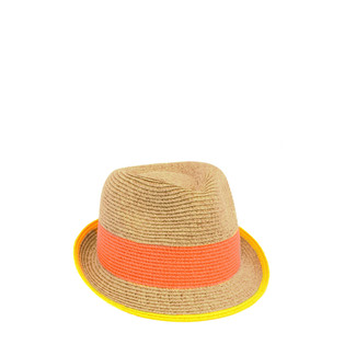 Orange/Oatmeal Straw Fedora