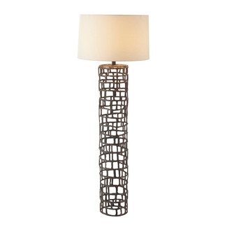 Rustic Geometric Iron Pillar Floor Lamp