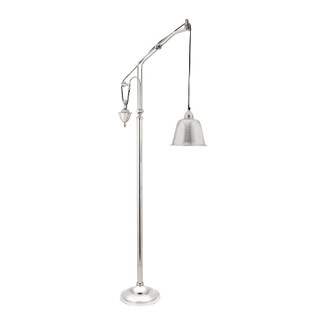 Polished Nickel Counter Weight Floor Lamp
