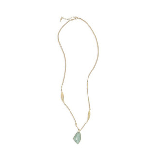Teal & Golden Sands Long Pendant