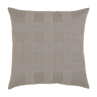Basketweave Gray Accent Pillow