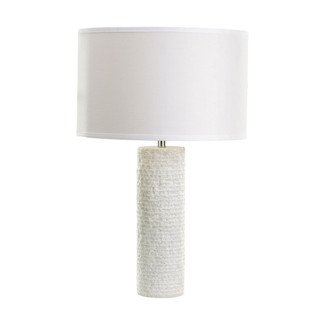 Layered White Marble Table Lamp