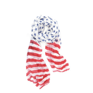 Navy/Red Stars and Stripes Scarf