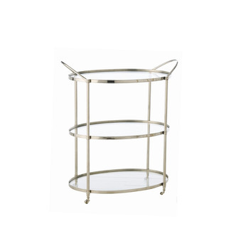 3 level antique brass bar cart