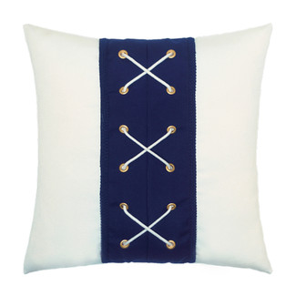 Navy Laced Accent Pillow