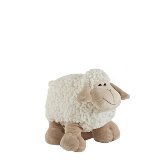 "Cute 8"" Ivory Plush Sheep Stuffed Animal"