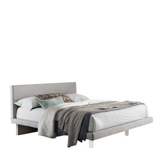 Nabuk Upholstered Platform Bed