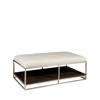 Willoughby Metal Frame Cocktail Ottoman