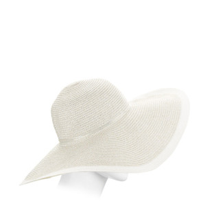Metallic/White Floppy Hat