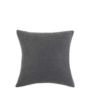 Fleece Charcoal Throw Pillow