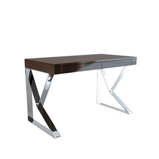 Geometric Polished Stainless Steel Desk