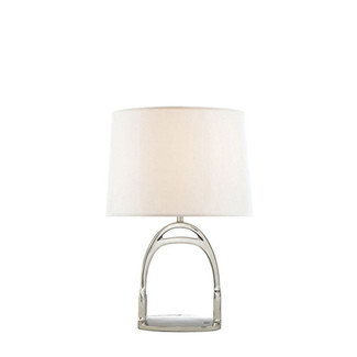 Stirrup Table Lamp in Polished Nickel
