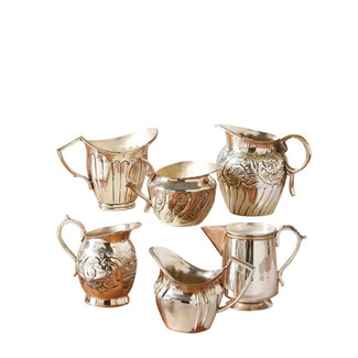 Silver Creamers - Set of 6