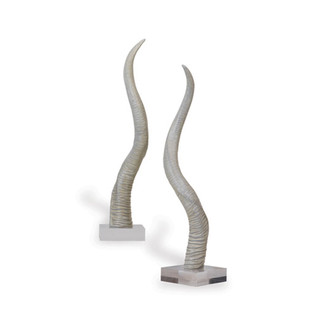 Safari White Horn Sculpture