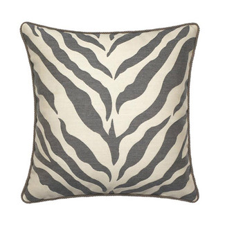 Gray Zebra Pillow