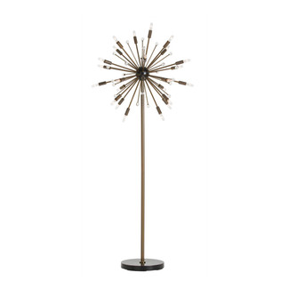 Vintage Brass Plated Starburst Floor Lamp