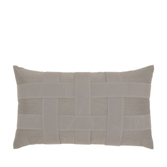 Solid Gray Weave Pillow 12x20