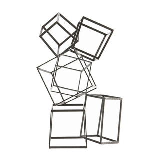 Geometric Cube Sculpture