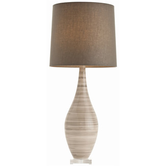 Taupe Striped Lamp
