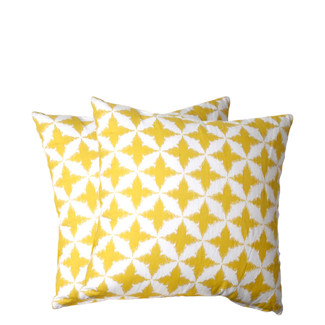 Solitaire Yellow Accent Pillow