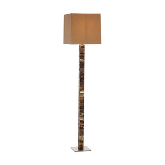 Faux Horn Tiled Floor Lamp