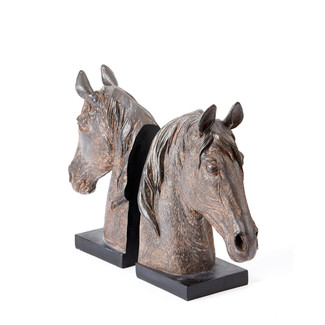 Stables Horse Bookends Set