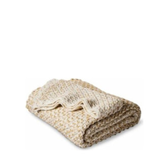 Darcy Knitted Ivory Throw