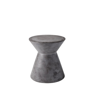 Round Sealed Concrete End Table
