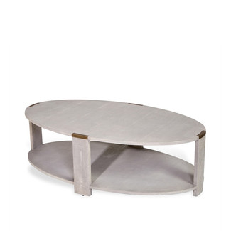 CREAM SHAGREEN COFFEE TABLE