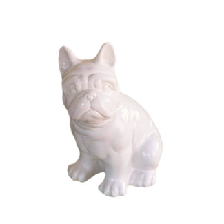 Ivory Ceramic French Bulldog