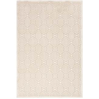 Geometric Chenille Patterned Rug