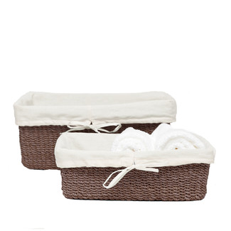 Taupe Nested Baskets, Set of 2