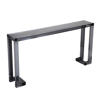 Smoke Acrylic & Glass Sofa Table