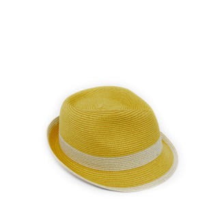 Yellow Fedora with Natural Band