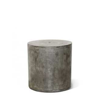 Concrete round accent table- Grey