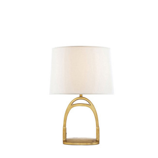 Table Lamp in Natural Brass