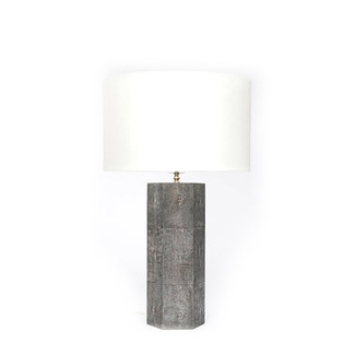 Shagreen Octagon Table Lamp - Cool Grey