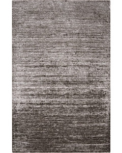 HAND WOVEN LUSTROUS CHARCOAL VISCOSE RUG
