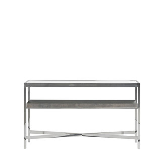 Polished Stainless Steel X- Console