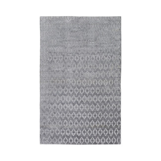 HAND LOOMED TAUPE VISCOSE RUG