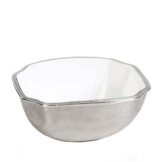 Aluminum & Enamel Bowl - Medium
